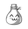 line kawaii cute tender cloth bag vector image vector image