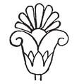 lotus-palmette design are very unique vintage vector image vector image