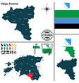map of valga estonia vector image vector image