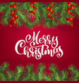 new year and christmas wreath with white vector image vector image