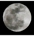 polygonal full moon vector image