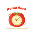 pomodoro clock card colored vector image vector image