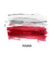 realistic watercolor painting flag poland vector image
