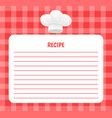 recipe chef hat icon notebook vector image