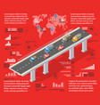 red infographics vector image