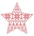 Scandinavian pattern in star shape vector image vector image