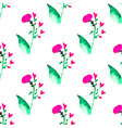 seamless floral pattern with watercolor flowers vector image vector image
