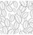 seamless pattern of autumn foliage vector image