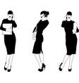 secretary is talking on phone vector image vector image