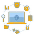 security and protection vector image vector image