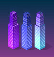 set city of ultraviolet style vector image