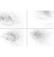 set grunge texture vector image