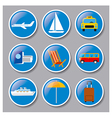 set icons travel concept vector image vector image