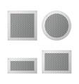 set of ventilation grilles vector image