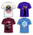 set print t-shirts on theme america vector image