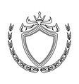 shield crown laurel decoration royal heraldic vector image vector image