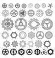 Steampunk collection machine gear wheel cogwheel vector image vector image