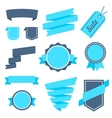 Stickers and Badges Set 7 Flat Style vector image vector image