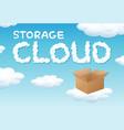 storage cloud box concept vector image