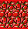 strawberry seamless pattern isolated berries on vector image