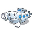 thumbs up submarine in the a cartoon shape vector image