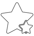 two star best of the best icon black color flat vector image vector image
