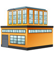 two storey building painted in yellow vector image vector image