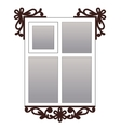 Window with carvedarchitraves vector image
