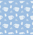 winter decorative cups doodles seamless pattern vector image vector image
