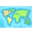 World map for kids wallpaper design vector image
