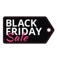 Black Friday sales tag with text vector image