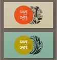 Elegant baroque badges Design elements vector image