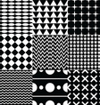 various seamless pattern set vector image