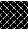 Elegant Black and White Flower Seamless Pattern vector image