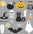 Halloween flat icons design vector image