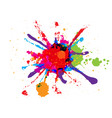 abstract splatter red orange green blue pink vector image vector image
