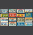 abstract vehicle registration number plates vector image