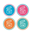 After opening use icons Expiration date product vector image vector image
