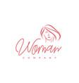 beauty woman hair facial care salon therapy spa vector image vector image