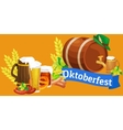 Beer festival Oktoberfest celebrations retro style vector image vector image