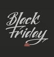 black friday sale lettering elegant modern vector image vector image