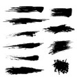 black mascara brush trace texture paint set vector image