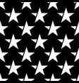 black seamless pattern with white star vector image vector image