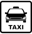 black sign with taxi car vector image vector image