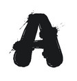 blot letter a black and white vector image vector image