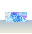 Blue and white winter typography horizontal flyer vector image vector image
