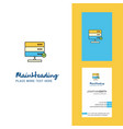 board creative logo and business card vertical vector image