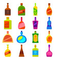bottles types icons set cartoon style vector image vector image