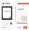 brain business logo tab app diary pvc employee vector image vector image