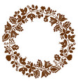 brown laurel wreath frame on white background vector image vector image